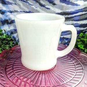 Vintage Fire King Milk Glass Mug